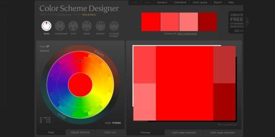 ColorSchemeDesigner Tool
