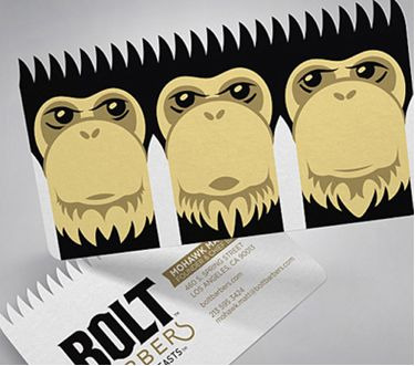 Bolt Barbers Business Card