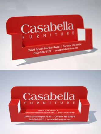 Casabella Furniture Shop Business Card