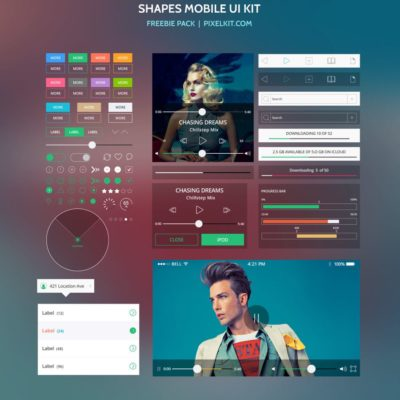 Shapes Mobile UI Kit – Freebie Pack