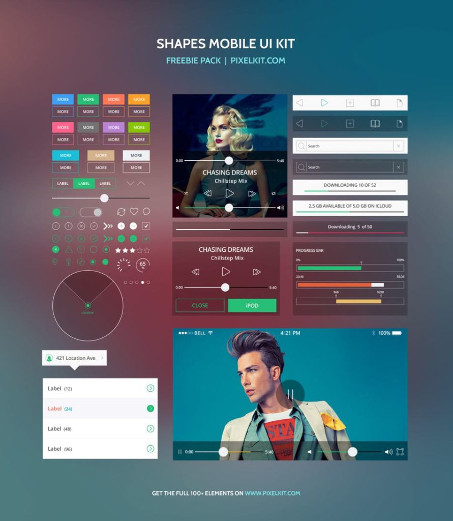 Shapes Mobile Freebie