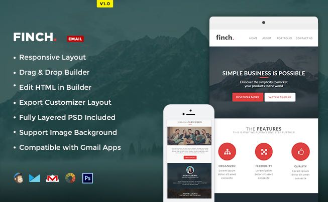 Finch Free Email Newsletter-Template
