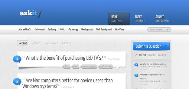 AskIt WordPress Question and Answer Theme