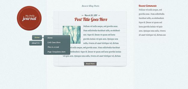 DailyJournal Responsive Blog WordPress Theme