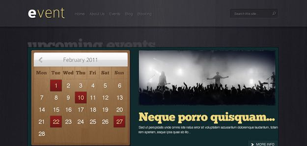 Event WordPress Calendar Theme
