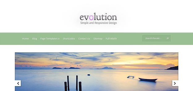 Evolution WordPress Responsive Design Theme