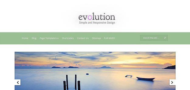 Evolution WordPress Responsive Design Theme