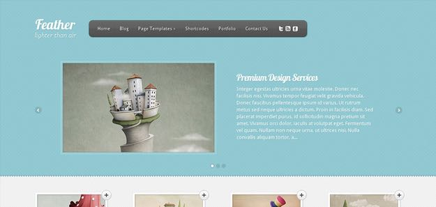 Feather WordPress Web Designer Theme