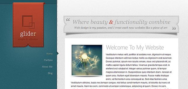 Glider WordPress Personal Blog Theme