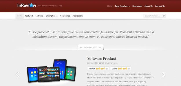 InReview WordPress Rating Theme
