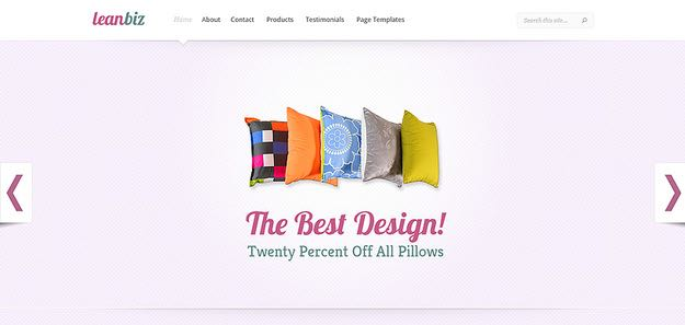 LeanBiz WordPress Business Theme