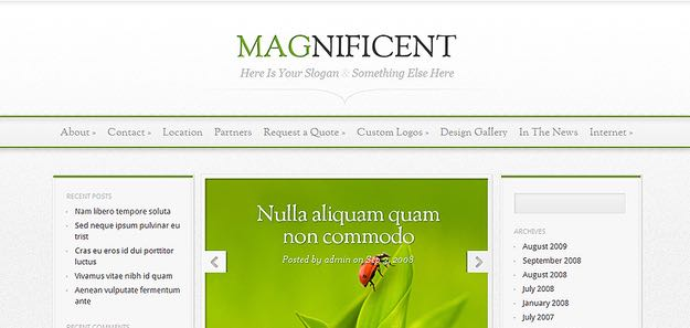 Magnificent WordPress Simple Theme