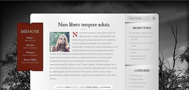 Memoir WordPress Personal Blogging Theme
