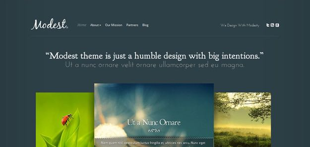 Modest WordPress Portfolio Theme