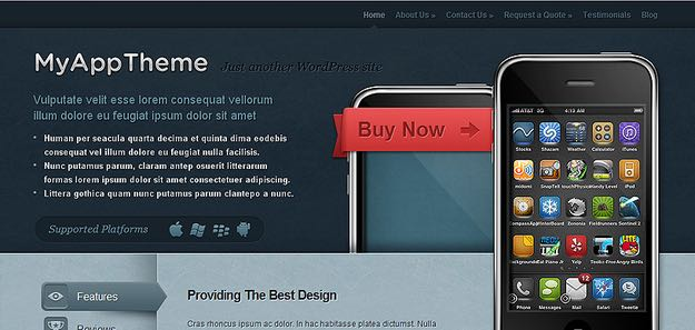 MyApp WordPress Mobile App Theme