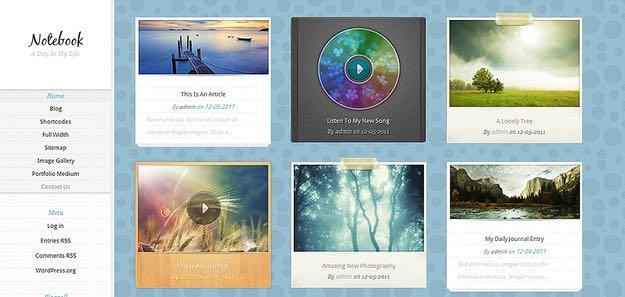Notebook WordPress Multimedia Theme
