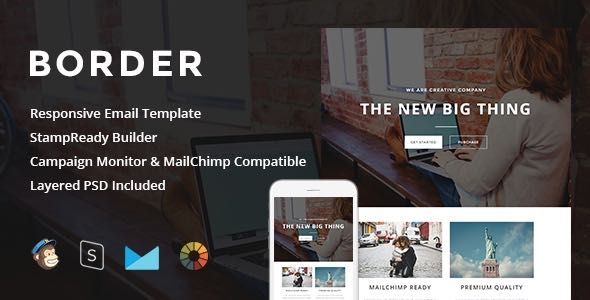 Border Responsive Email StampReady Builder Template