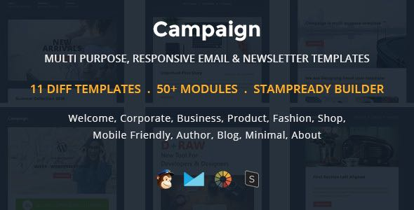 Campaign Multipurpose Responsive Email Newletter Templates