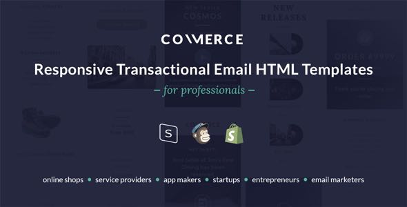 Commerce Responsive Transactional Email HTML Templates