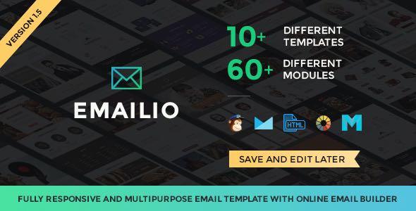 Emailio Responsive Multipurpose Email Template