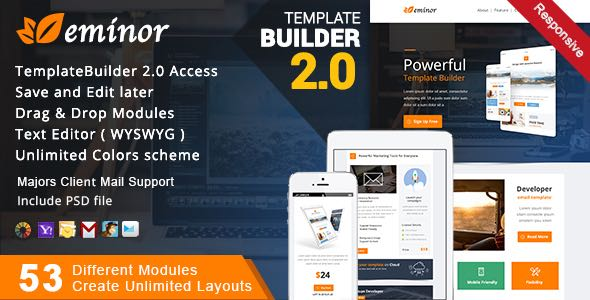 Eminor Responsive Email MailBuild Online Template