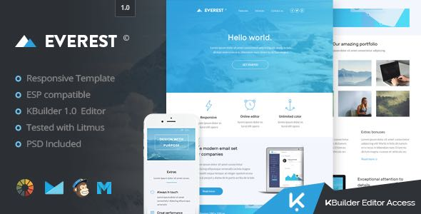 Everest HTML Email Template Builder