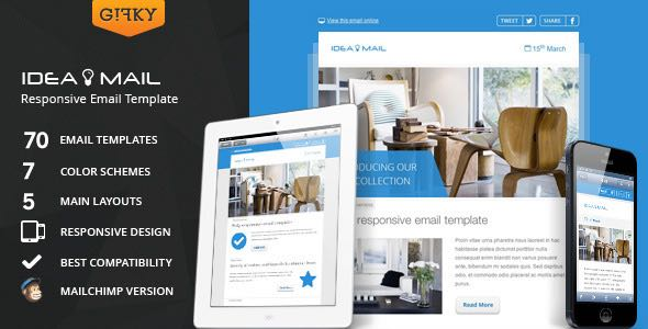 Idea Mail Minimal & Responsive Email Template