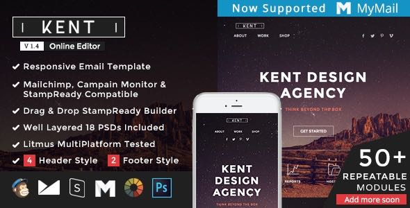 Kent Responsive Email StampReady Builder Template