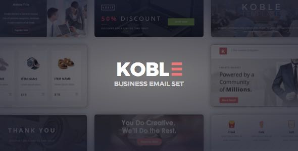 Koble Business Email Set Template