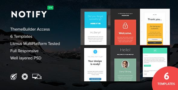 Notify Notification Email Themebuilder Access Template