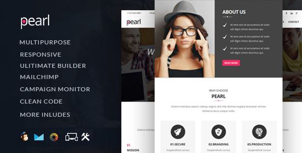 Pearl HTML Multipurpose Email Template