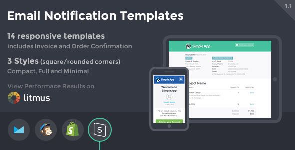 SimpleApp Email Notification Templates