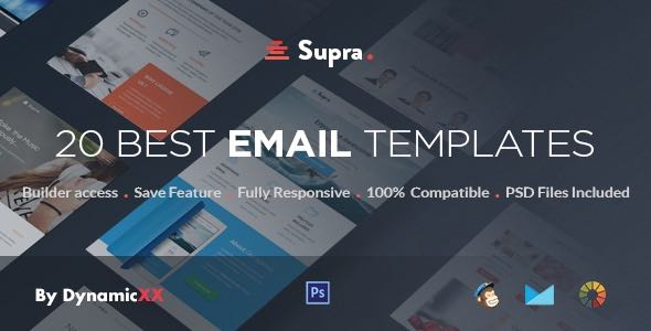 Supra Pack of 20 Templates Online Template Builder