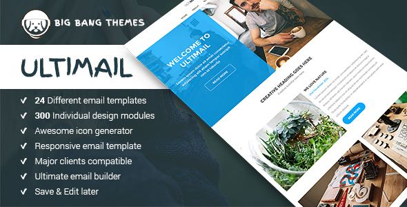 UltiMail Multipurpose Email Builder Access Template
