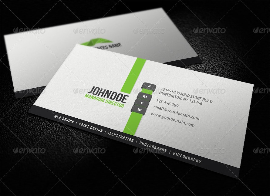 25 best business card templates photoshop designs 2017 clean modern business card reheart Gallery