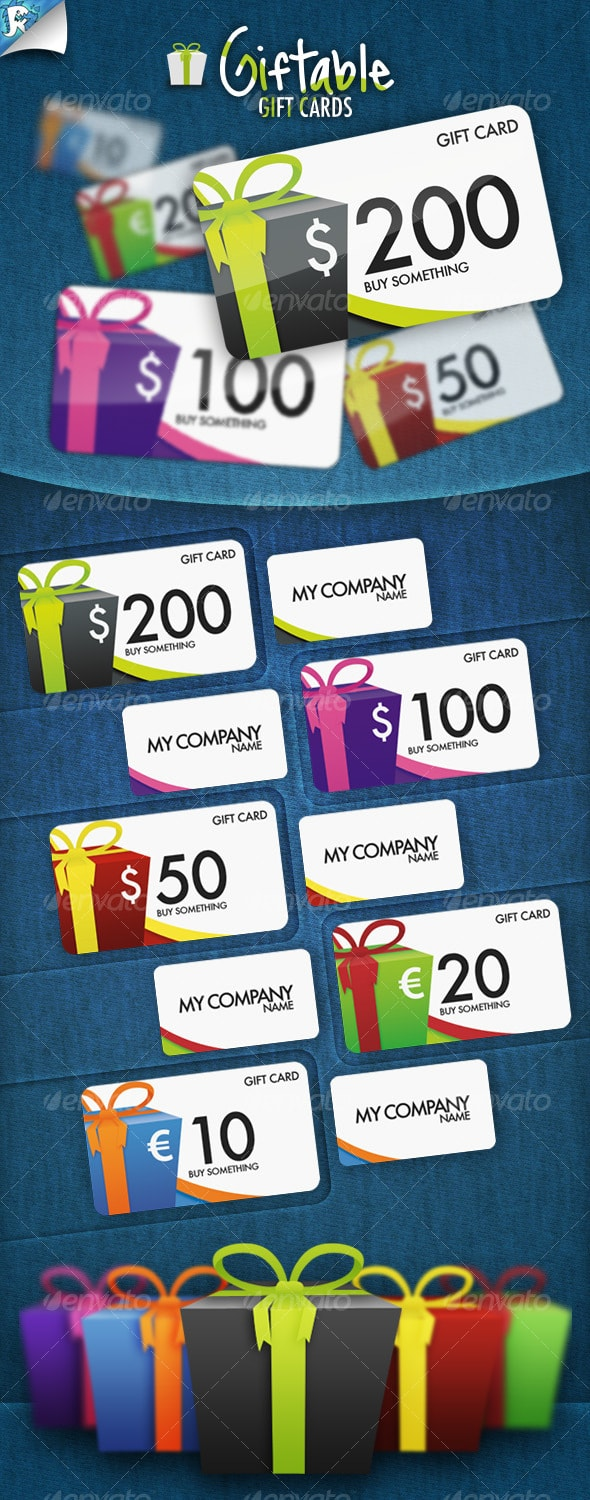 Giftable Gift Cards Template