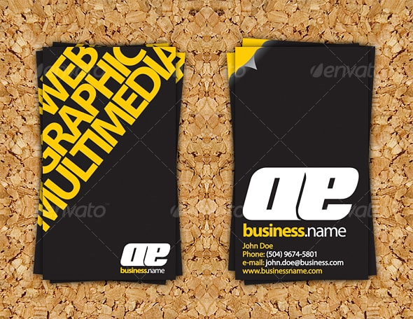 Impact Business Card Template