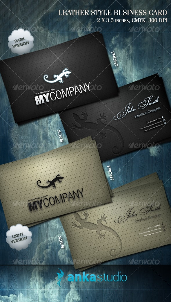 Leather Style Business Card Template