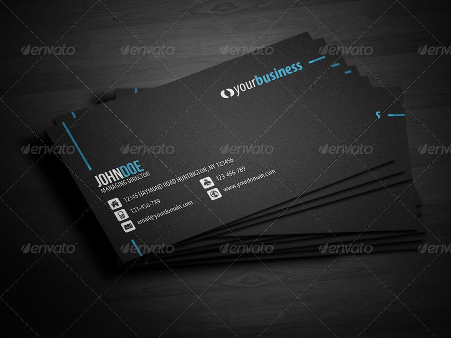 Line Corporate Business Card Template