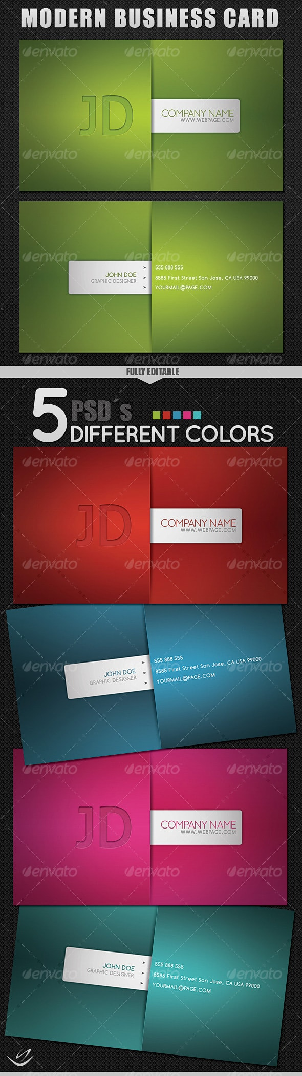 Modern Style Business Card Template