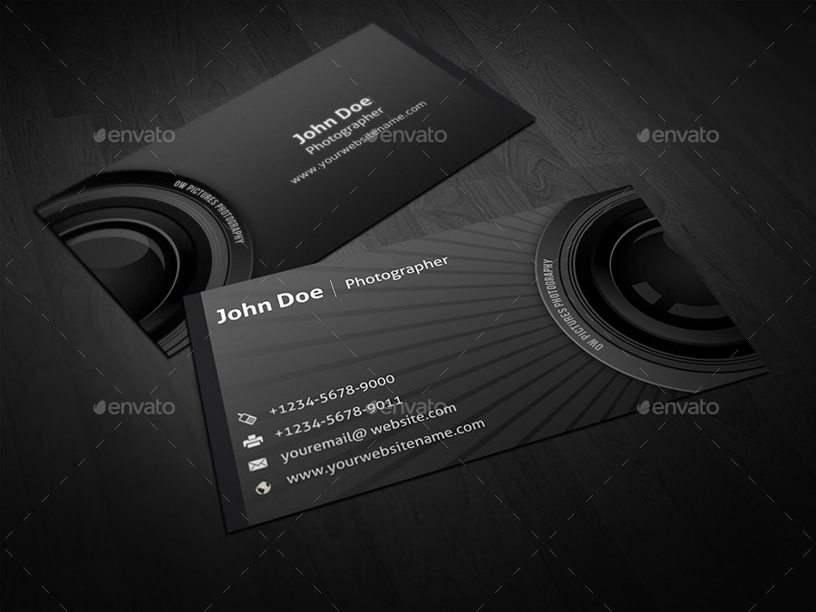 25 best business card templates photoshop designs 2017 photographer business card reheart Gallery