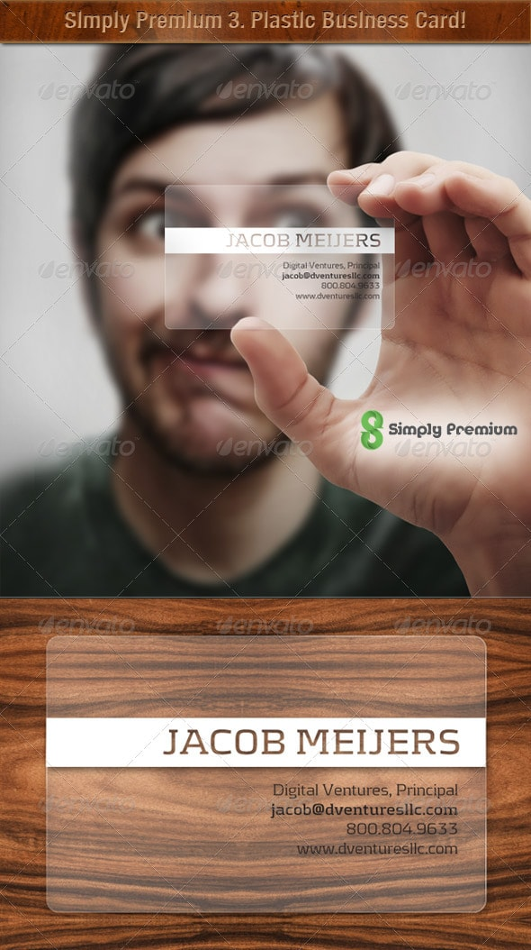 Prepped 4 Print Translucent Plastic Business Card