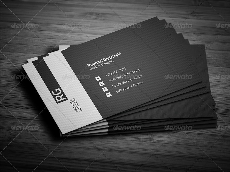 25 best business card templates photoshop designs 2017 simple business card template 2 wajeb Choice Image