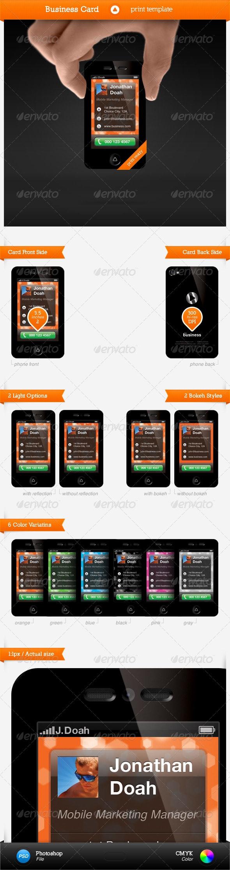Smartphone Business Card Template
