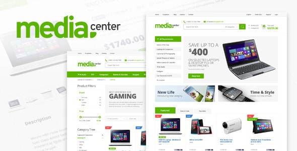 Media Center Electronic eCommerce HTML Template
