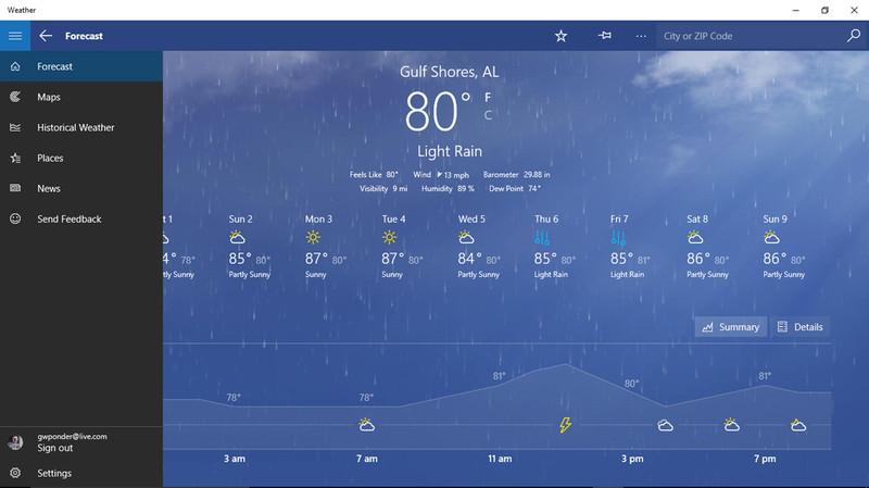 Скачать приложение погода на компьютер
