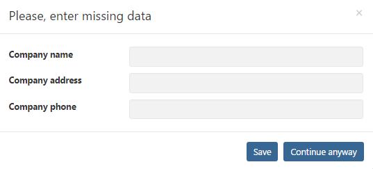 Enter Missing Data