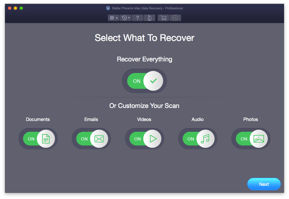 Data Recovering Options