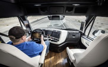 Electronic Gadgets in Truck Cabin