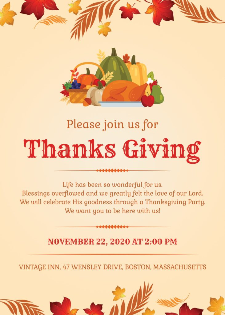 Free Thanksgiving Cards (Fonts & PSD Included)